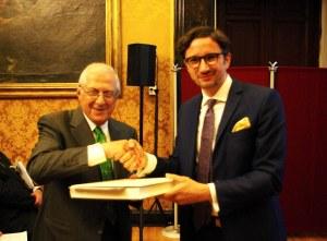 Tiziano Panconi e Dimitrios Pandermalis, direttore dell'Akopolis Museum di Atene