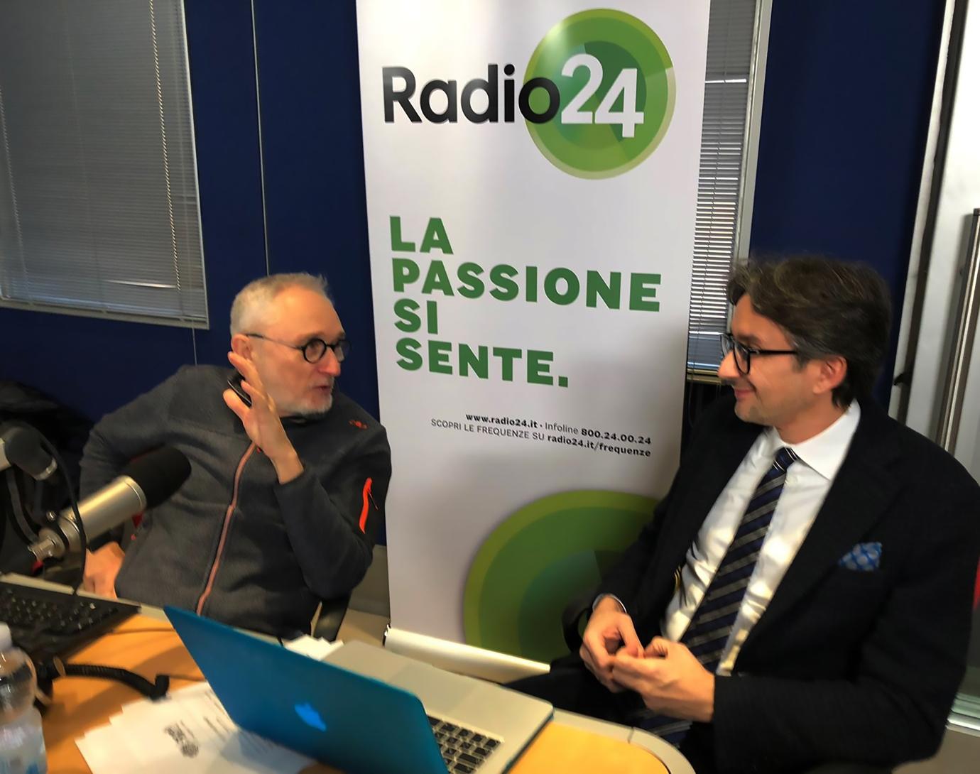 Tiziano Panconi intervistato a Radio24 da Gianluca Nicoletti.